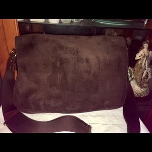 Coach Leather Suede Messenger Cross Body Bag 70528